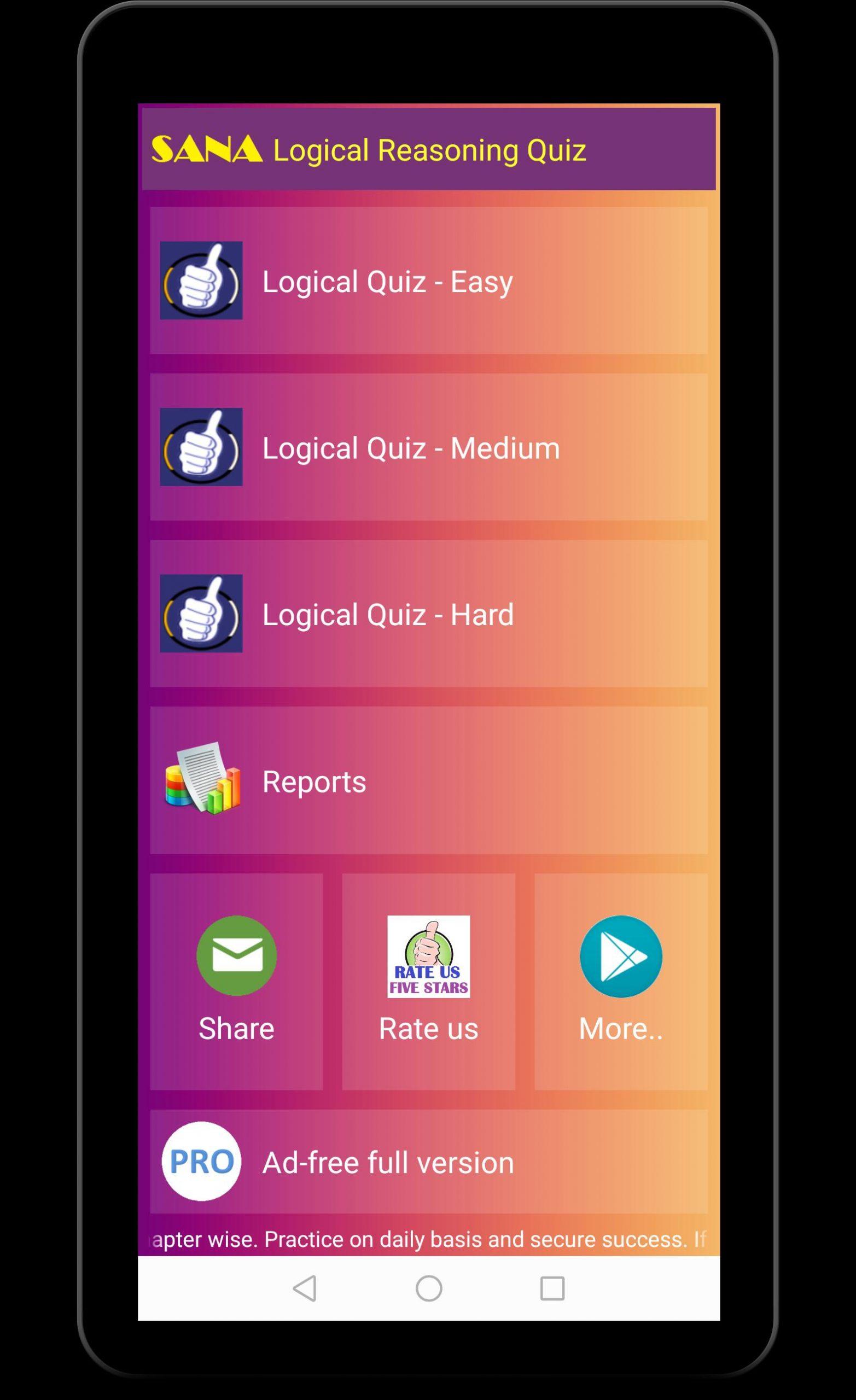 Quiz De Qi Logique Pour Android - Téléchargez L'apk avec Quiz Logique Gratuit