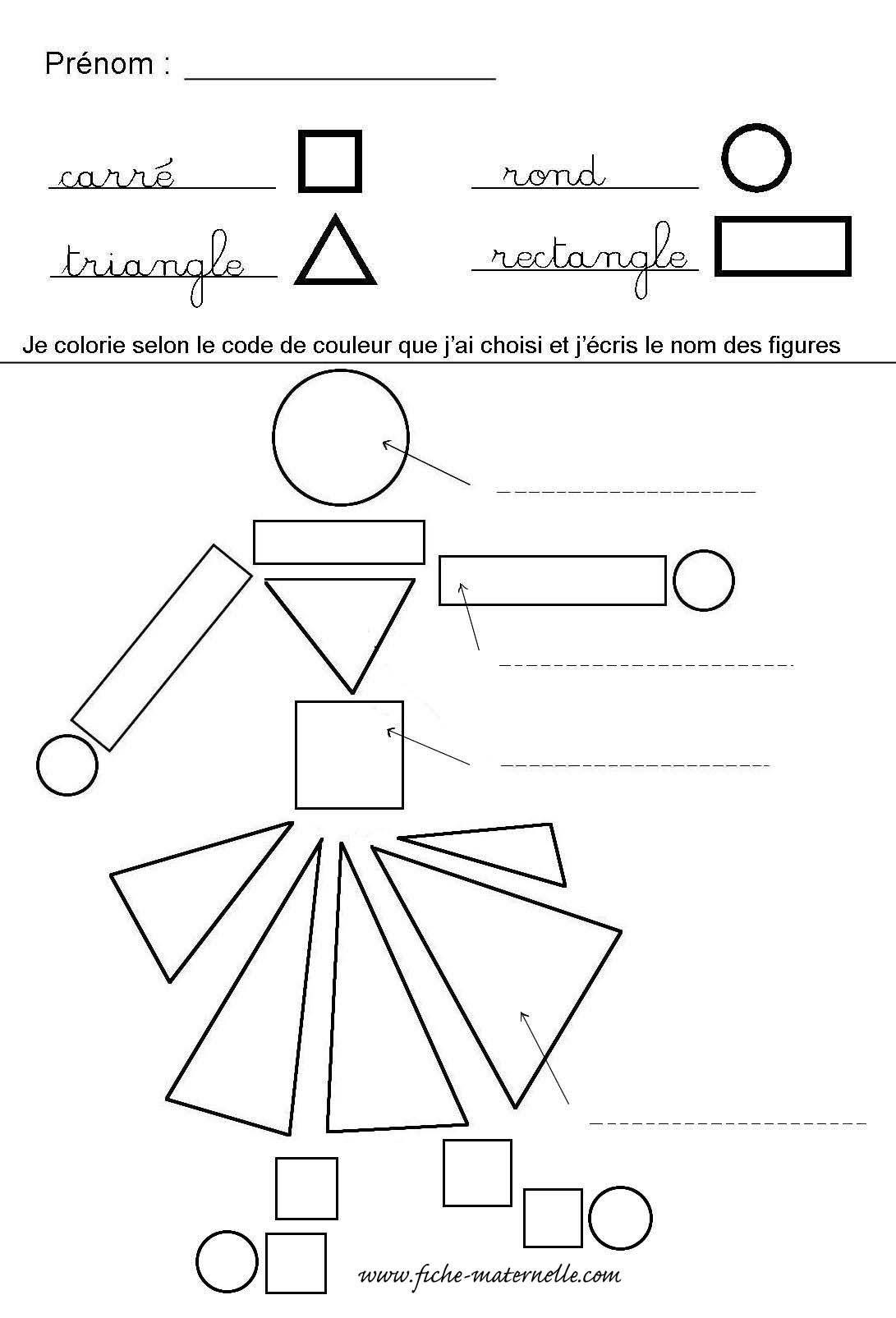 Reconnaître Les Formes Géométriques En Maternelle | Formes tout Coloriage Moyenne Section À Imprimer