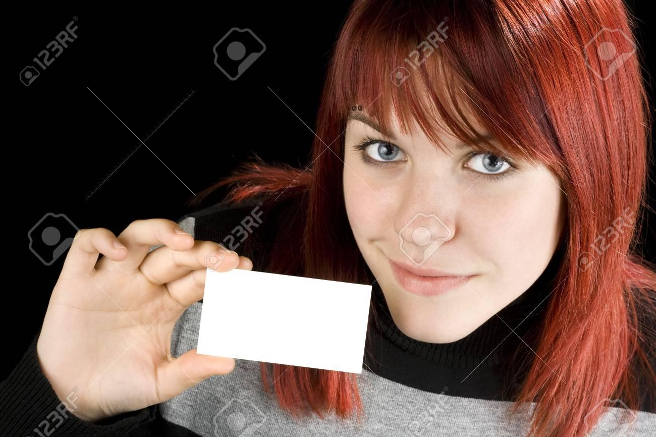 Redhead Étudiants Titulaires D'une Jeune Fille Vierge Entreprise / Carte De  V?ux. concernant Ux De Fille