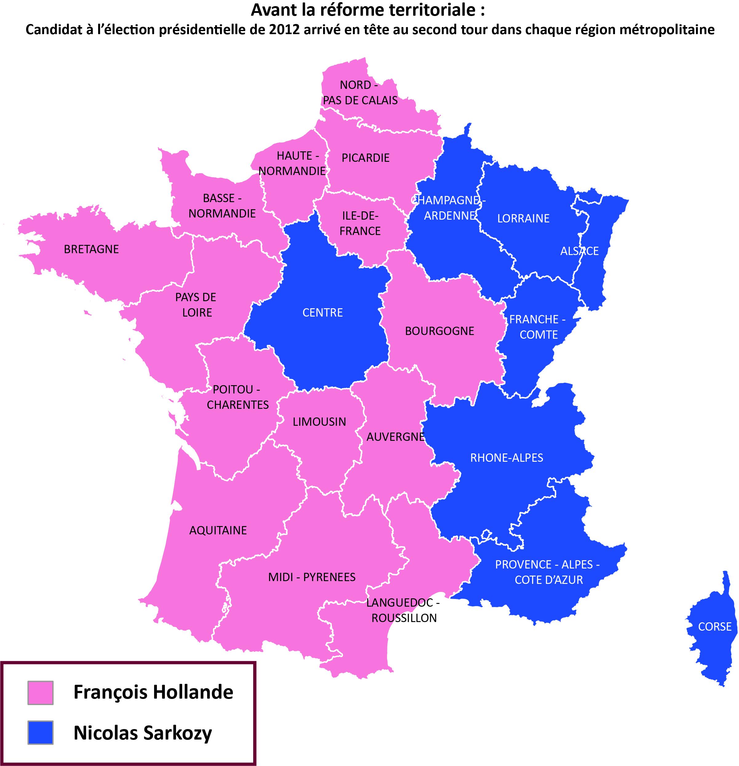 Réforme Territoriale: Pour Qui Voteront Les Nouvelles destiné Les 22 Régions De France Métropolitaine