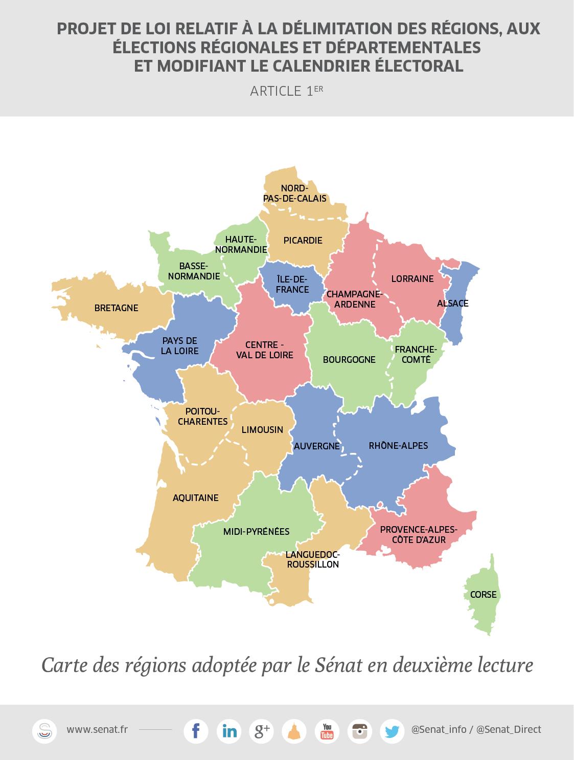 Réforme Territoriale : Vers Une Nouvelle Délimitation Des avec Le Nouveau Découpage Des Régions