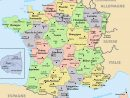 Regions And Departements Map Of France | France Map, Regions dedans Map De France Regions