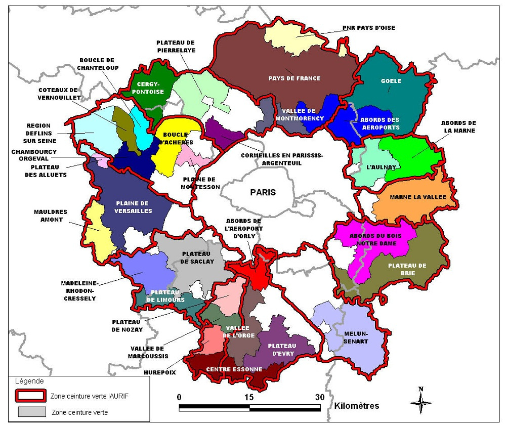Régions De France pour Carte Des Départements D Ile De France