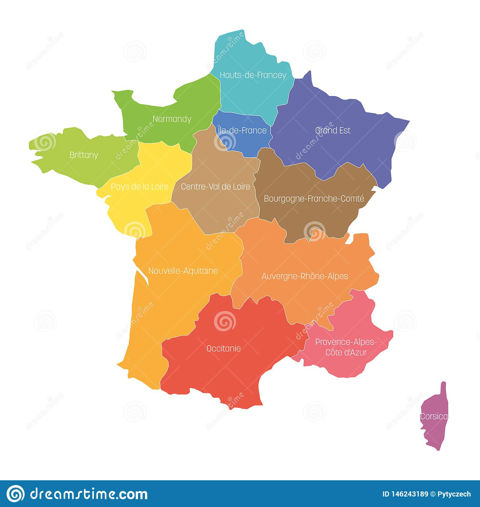 Regions Of France. Map Of Regional Country Administrative avec Map De France Regions