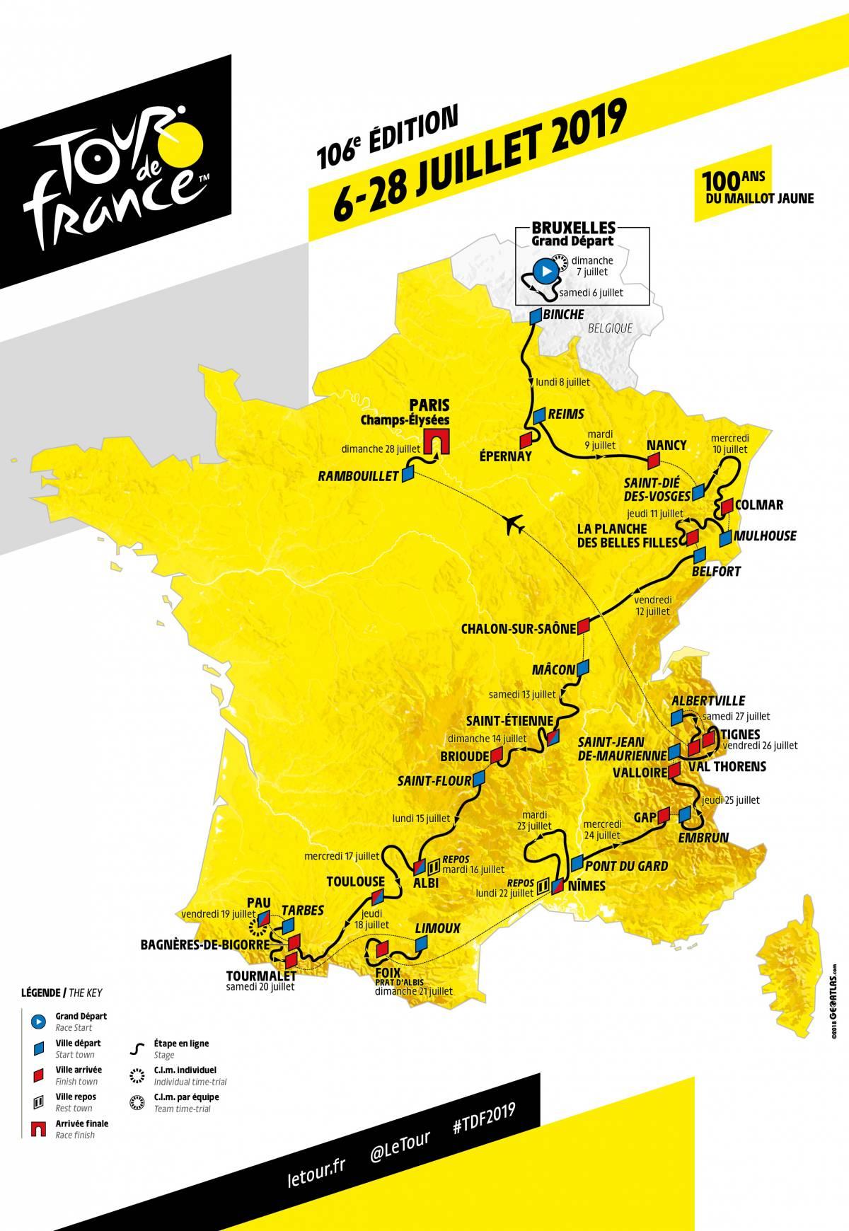 Rent A Bike To Follow The Tour De France In The Alps - Alps à Gap Sur La Carte De France