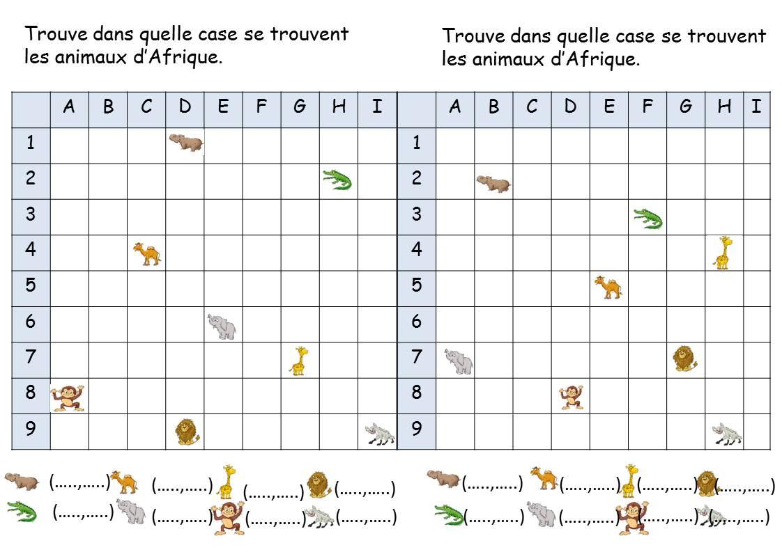 Reperage De Quadrillage Ce1 - La Classe De Corinne dedans Exercice Reproduction Sur Quadrillage Ce1