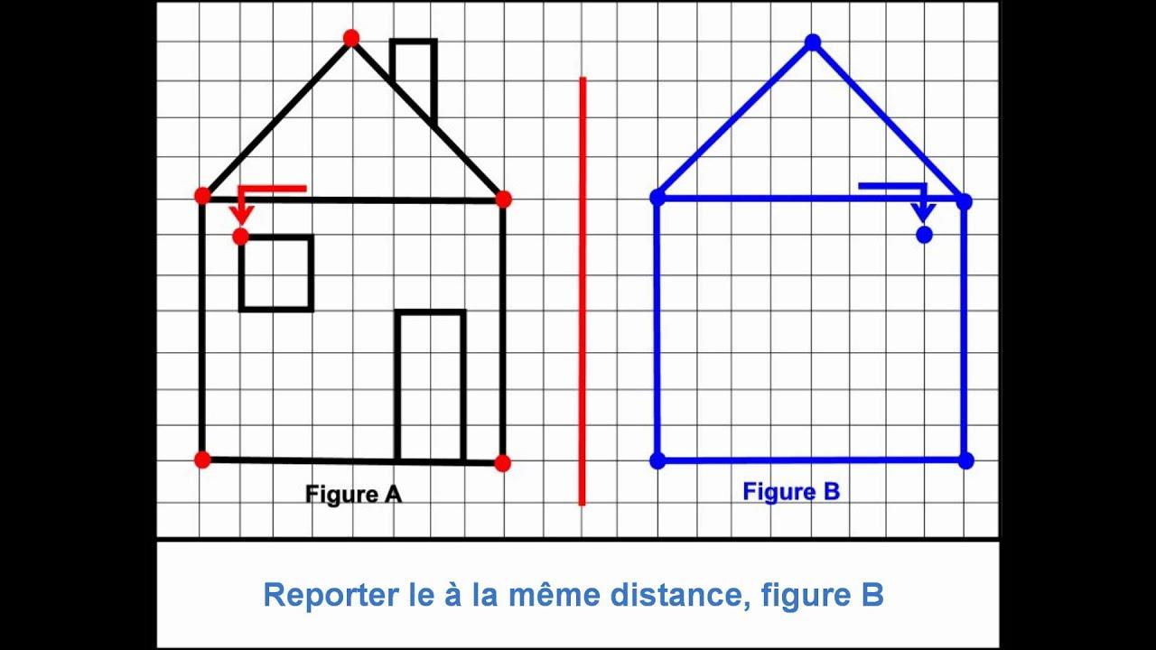 Reproduction D'une Figure Selon Un Axe De Symétrie à Exercice Reproduction Sur Quadrillage Ce1