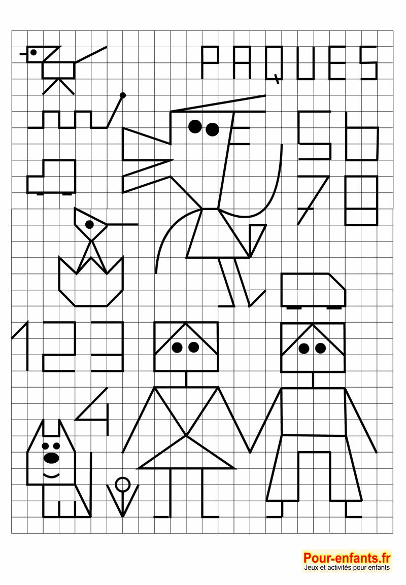Reproduction Sur Quadrillage Archives - Charades, Jeux intérieur Reproduction De Figures Ce2 Quadrillage