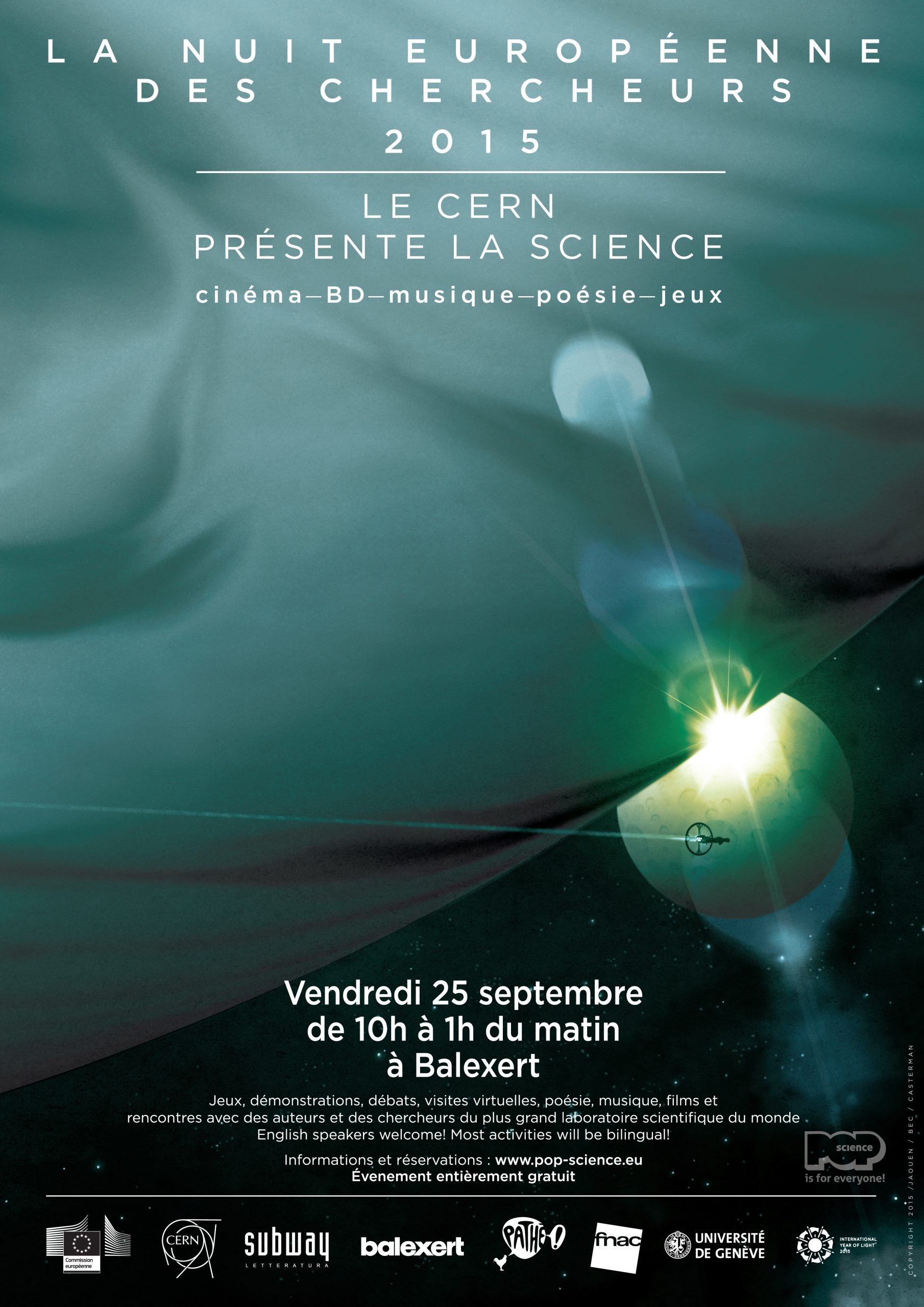 Researchers' Night 2015: Exploring Science In Movies, Comics tout Jeux De Fee Gratuit