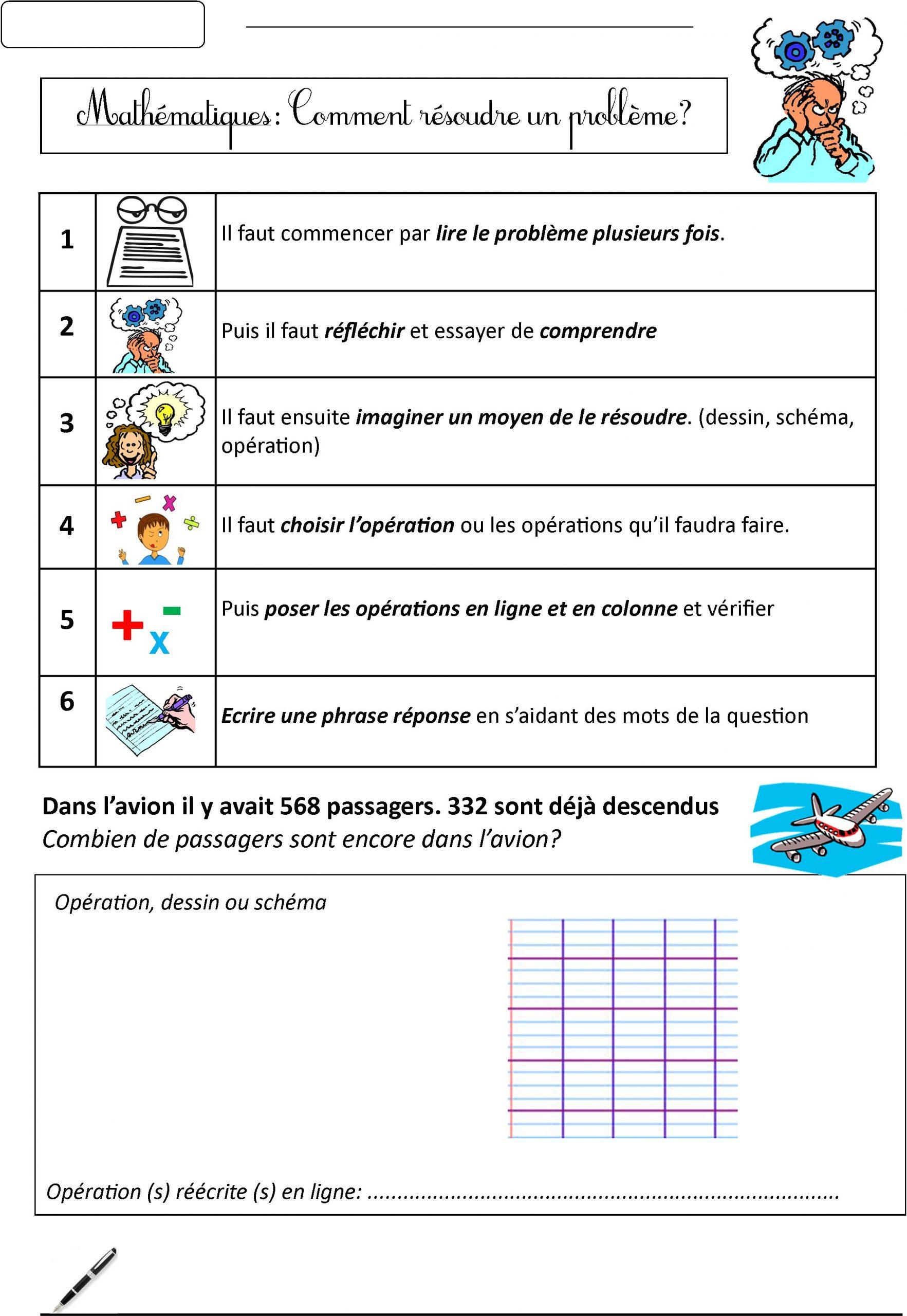 Résolution De Problèmes   Le Blog De Monsieur Mathieu serapportantà Exercice Problème Ce1