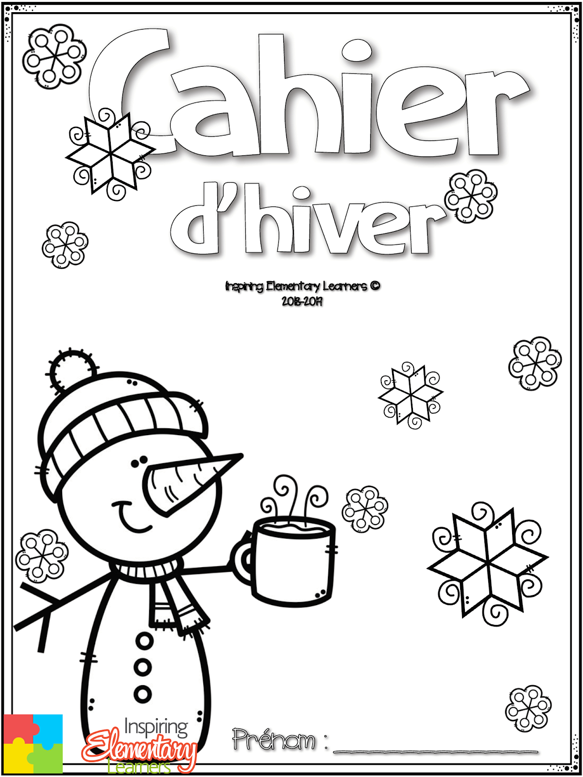 Ressources En Français: Cahier De Coloriage - Maternelle destiné Coloriage Hiver Maternelle