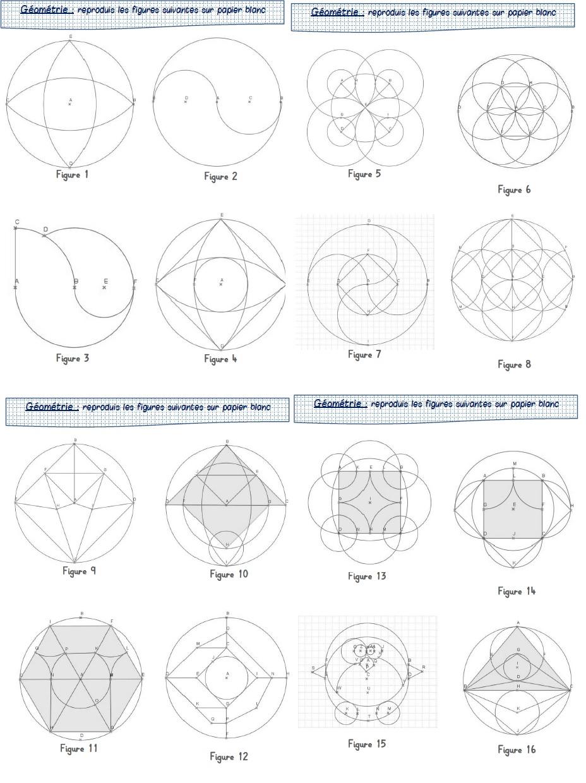 Ressources En Géométrie Au Cycle 3 - Le Journal D'une Maîtresse concernant Reproduction Sur Quadrillage Cm1 A Imprimer