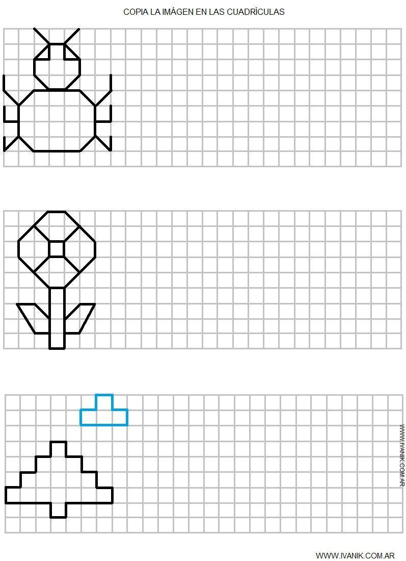 Resultado De Imagen Para Dibujos Con Cuadricula Para dedans Symétrie Ce1 Exercices