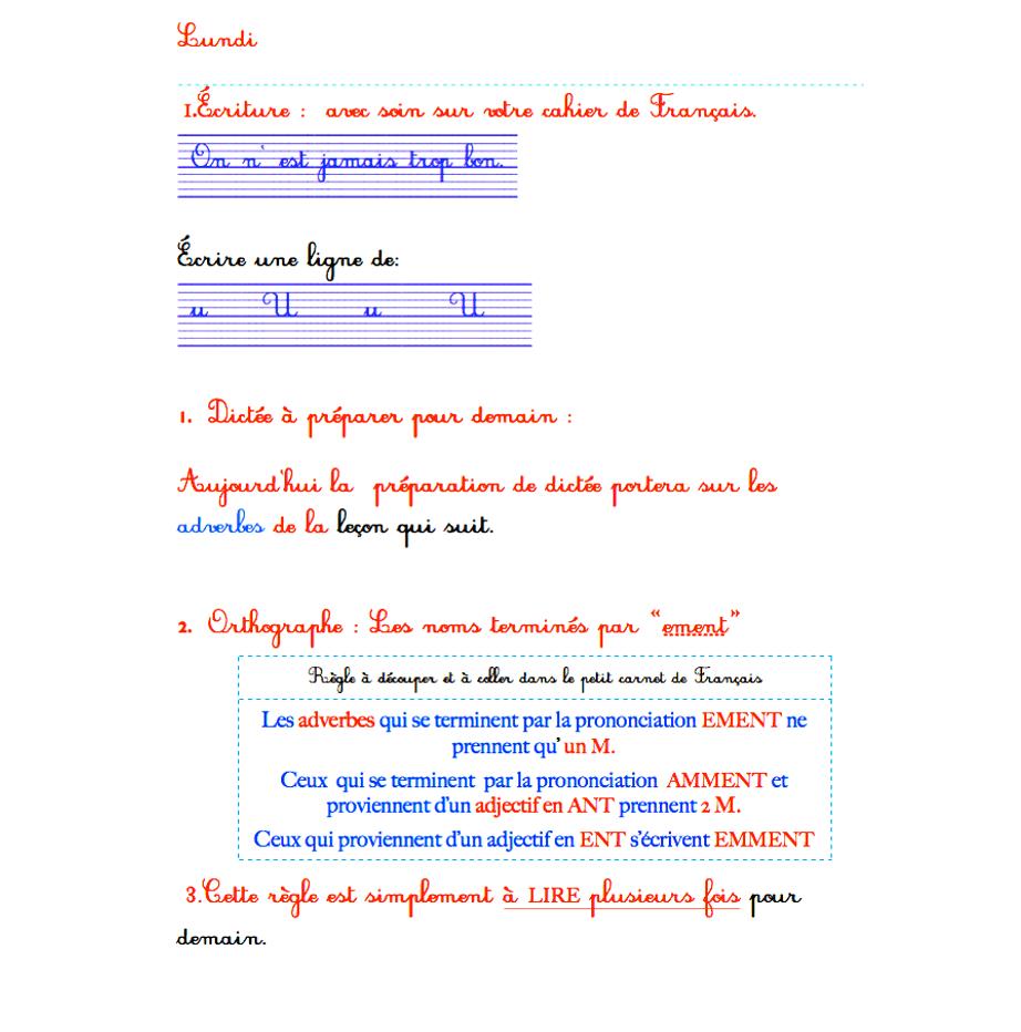 Révisions Et Devoirs À Envoyer Français Ce2 destiné Fiche De Français Ce2