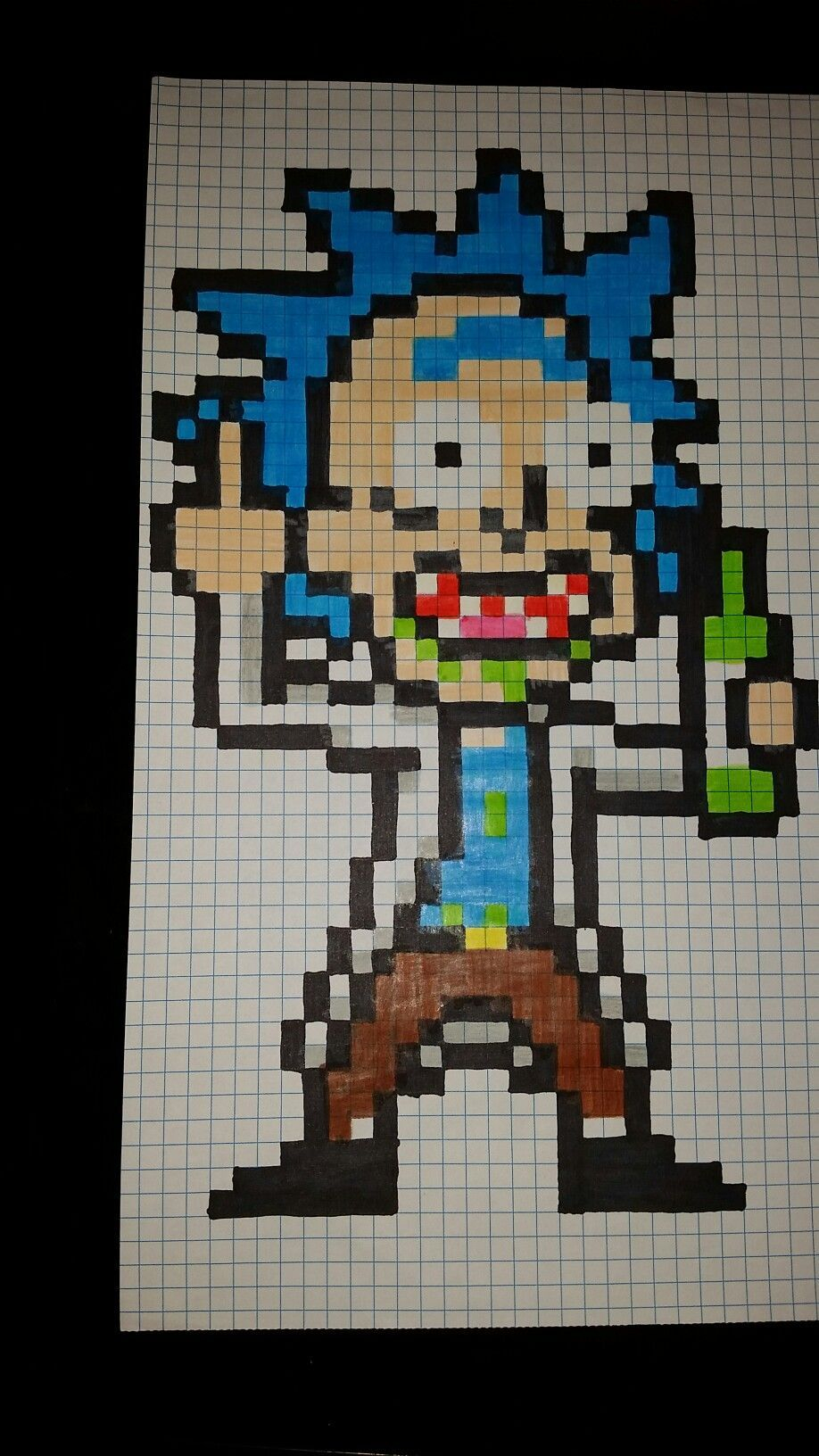 Rick Pixel Art #art #pixel #rick, 2020 | Minecraft Piksel à Pixel Jouet