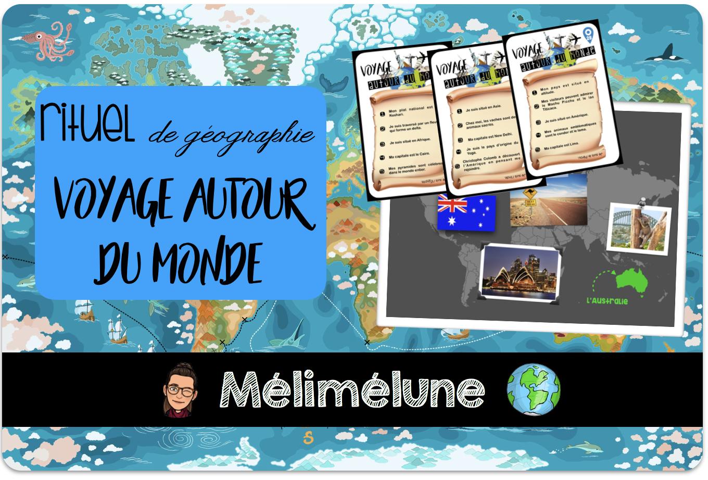 Rituel De Géographie : Voyage Autour Du Monde ! - Mélimélune dedans Jeux De Geographie