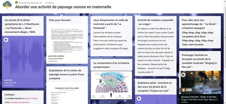 Rituel D'écoute Musicale - Aborder Une Activité De Paysage destiné Activité Musicale Maternelle