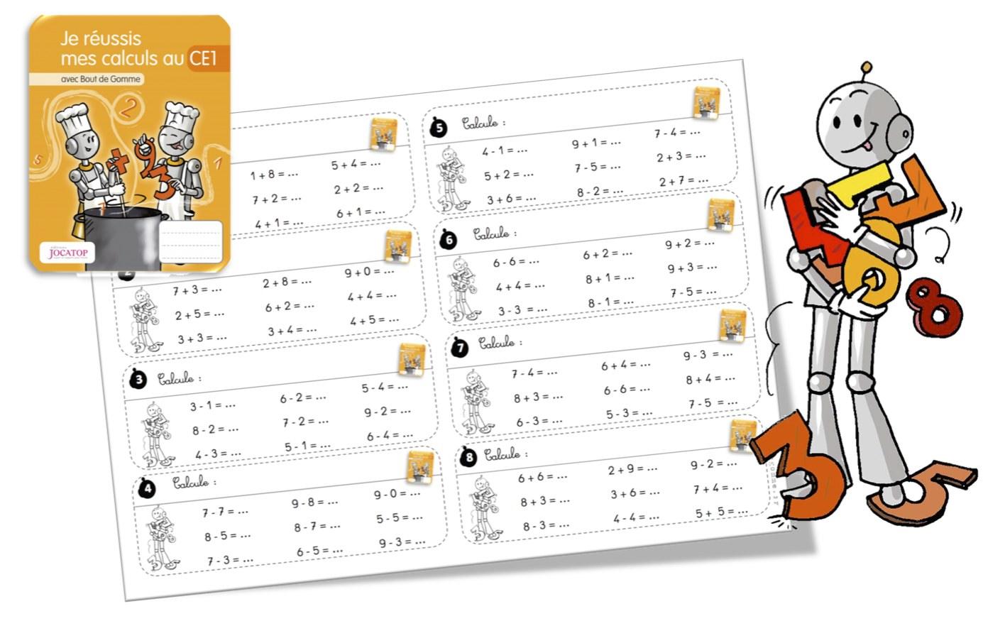 Rituels Calcul Avec Les Cahiers De Calcul Jocatop Ce1 | Bout avec Exercice De Cp En Ligne