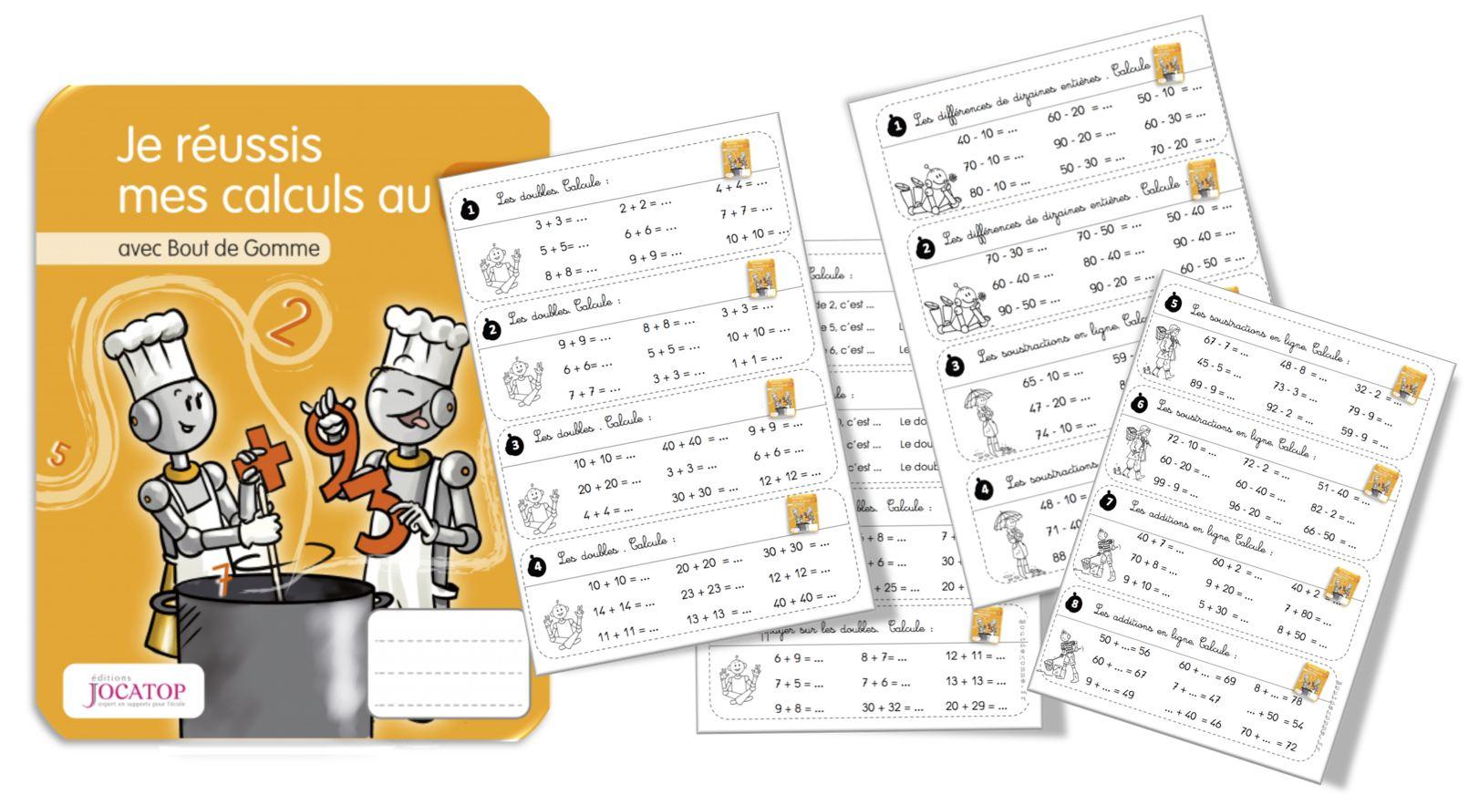 Rituels Calculs Jocatop Ce1 : Doubles, Additions Et dedans Exercice De Cp En Ligne