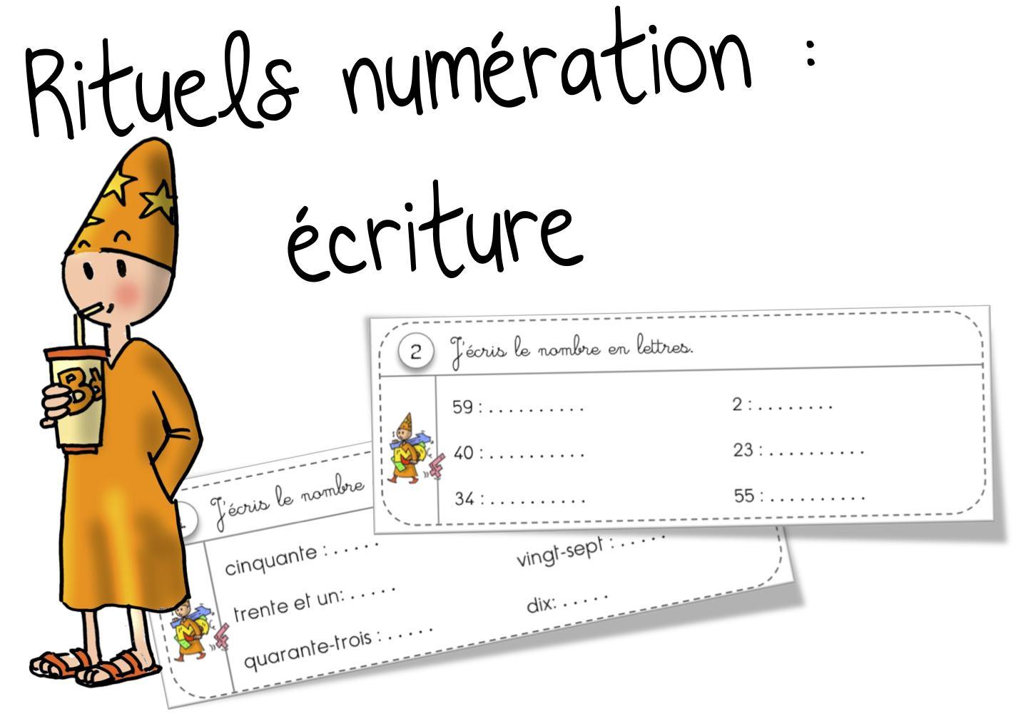 Rituels Sur L'écriture Des Nombres De 29 À 59 | Bout De Gomme destiné Apprendre Les Chiffres En Lettres Cp
