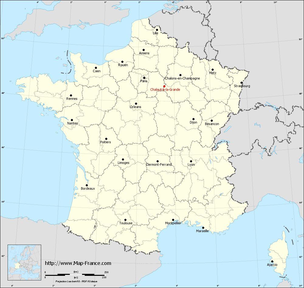 Road Map Chalautre-La-Grande : Maps Of Chalautre-La-Grande 77171 tout Grande Carte De France