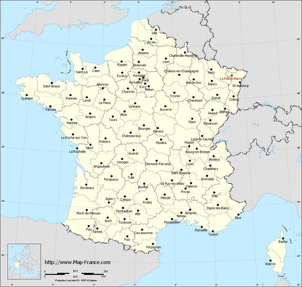 Road Map La Petite-Pierre : Maps Of La Petite-Pierre 67290 avec Petite Carte De France
