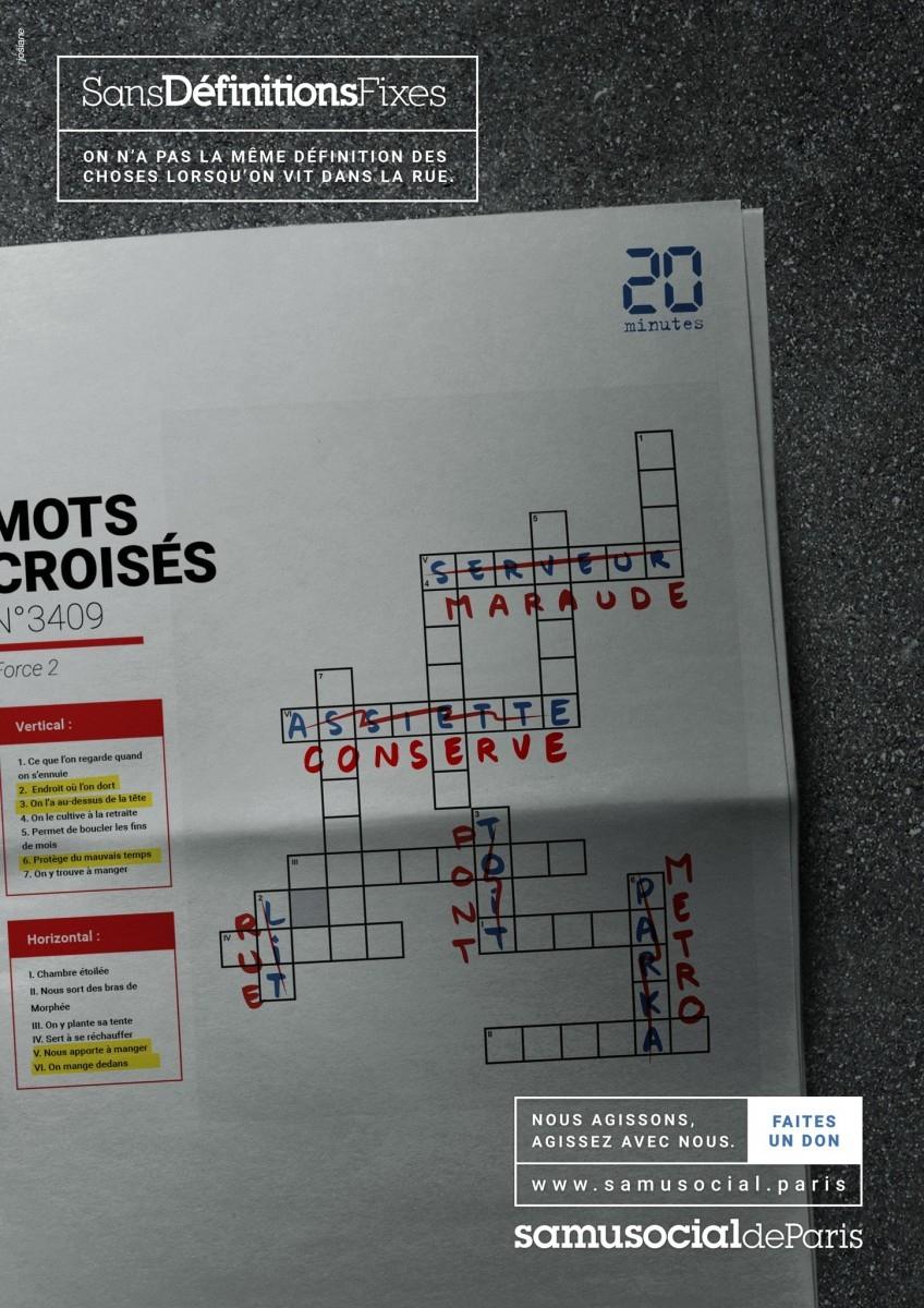 """Samusocial De Paris - """"sansdéfinitionsfixes"""" concernant Grand Ensemble Mots Croisés"""