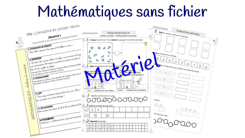 Sans Fichier En Mathématiques : Fiches D'exercices Différenciées pour Exercices Maths Ce2 À Imprimer