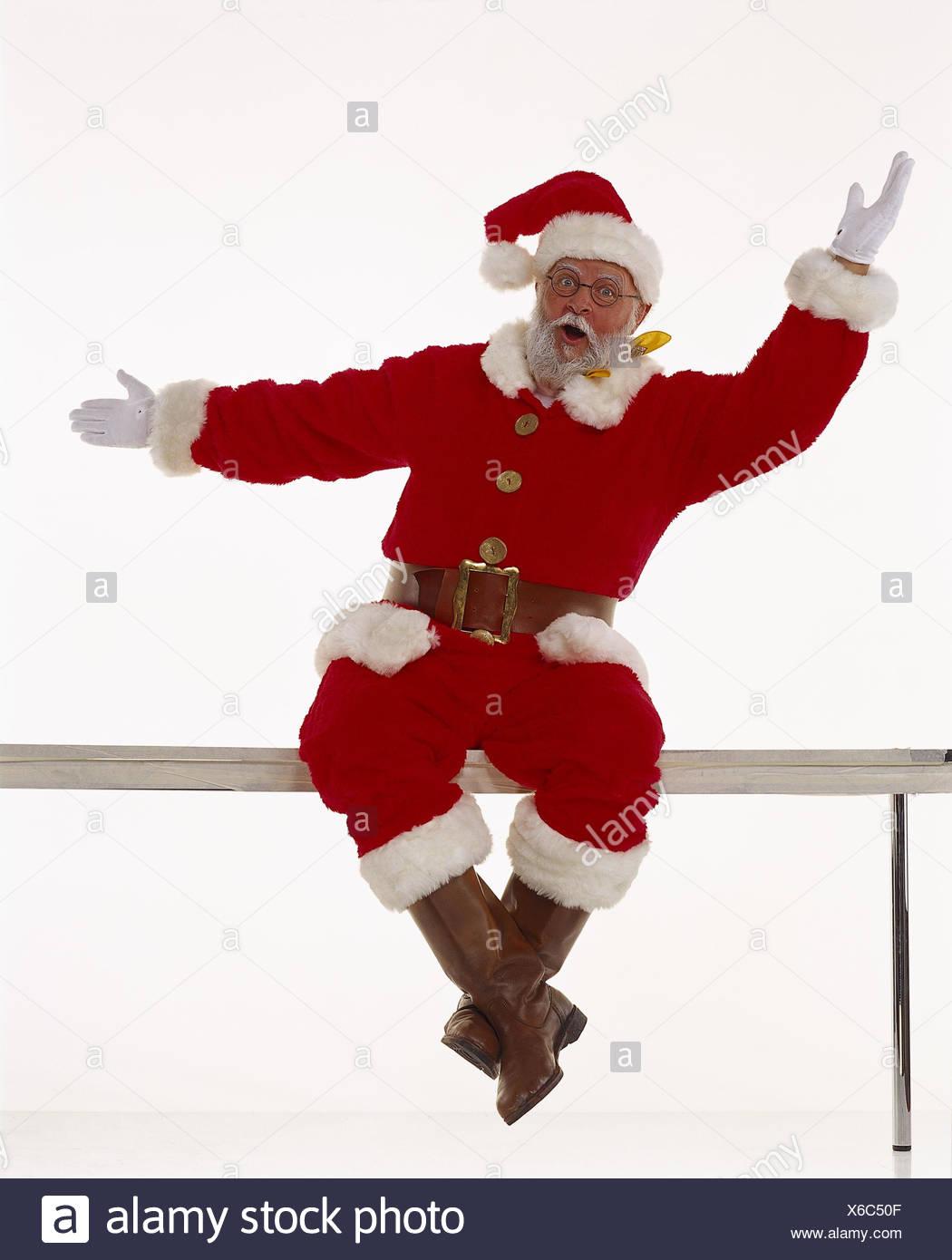 Santa Claus, Garde-Corps, S'asseoir, Propagation, Heureux destiné Pere Noel A Decouper