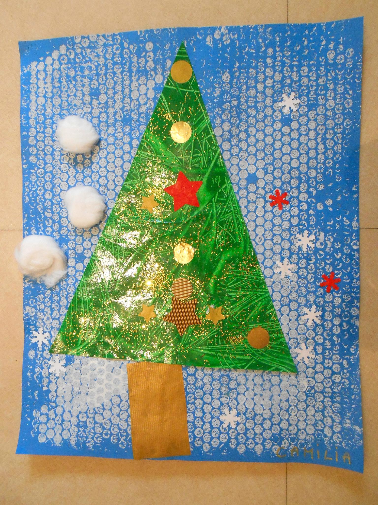 Sapin De Noël - Collage Et Peinture En Petite Section - La avec Activité De Noel Maternelle