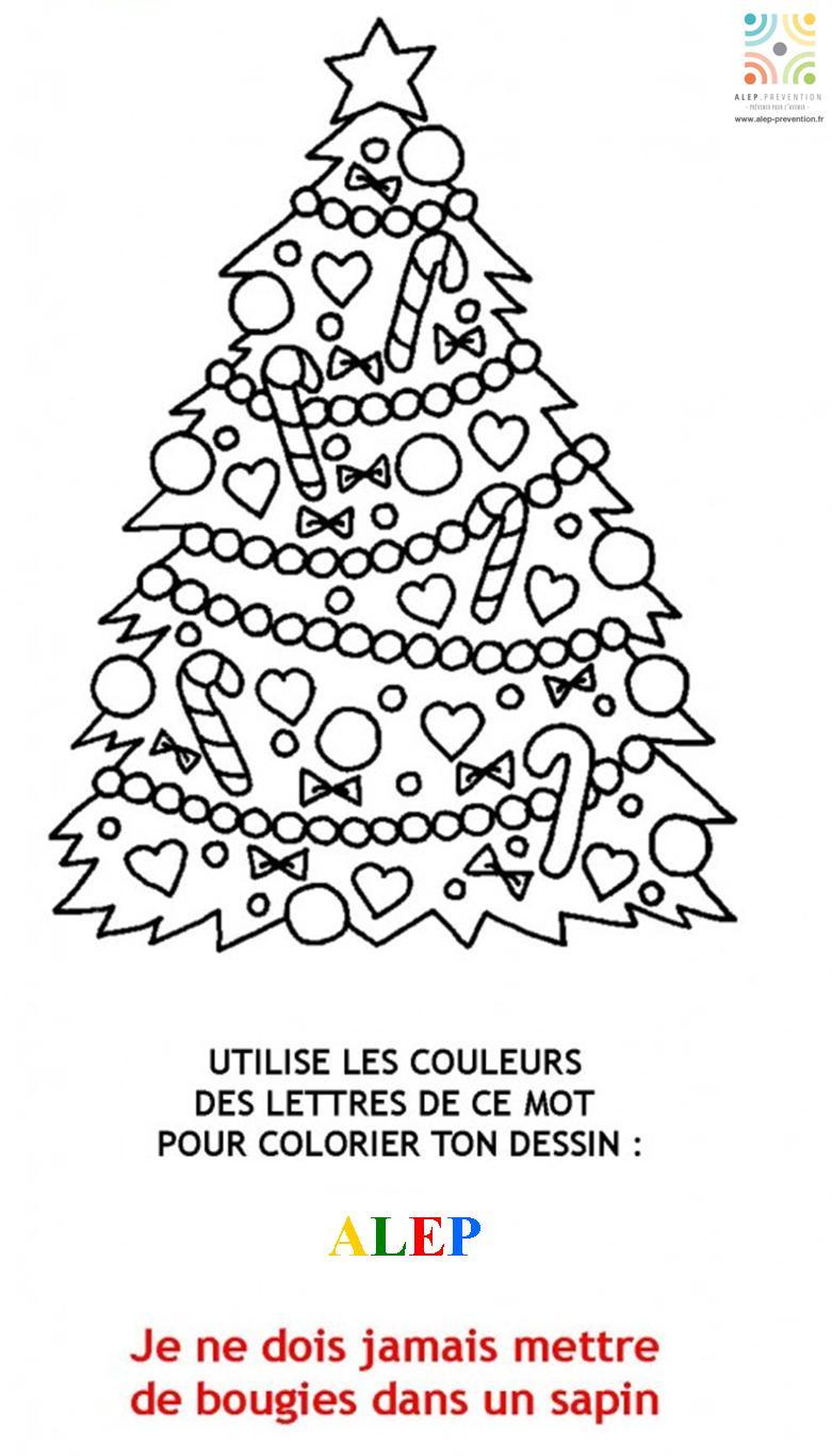Sapin De Noël Coloriage Magique Prévention Accidents intérieur Coloriage Codé Noel