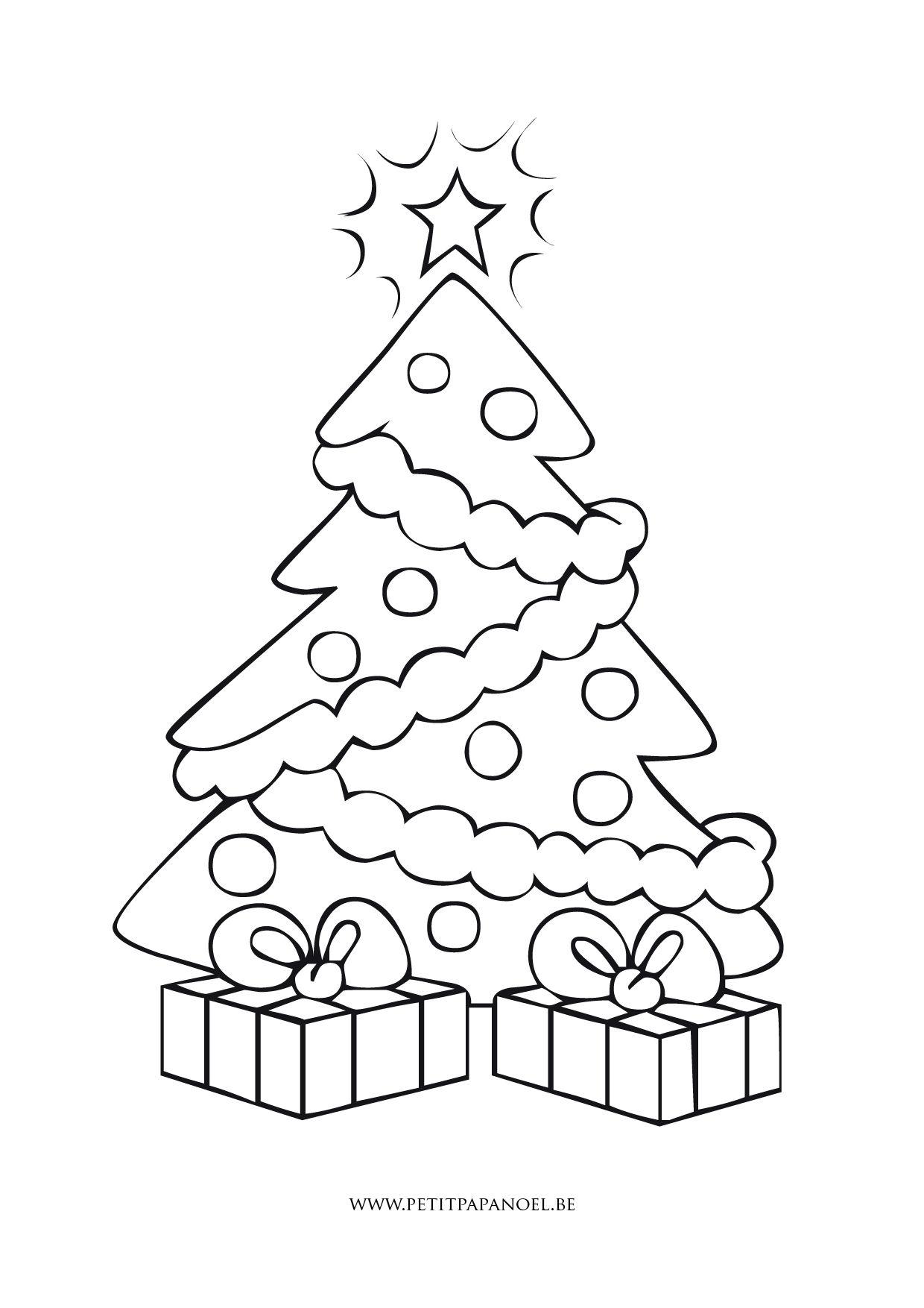 Sapin De Noël | Coloriage Noel Gratuit, Coloriage, Coloriage tout Sapin De Noel A Colorier Gratuit