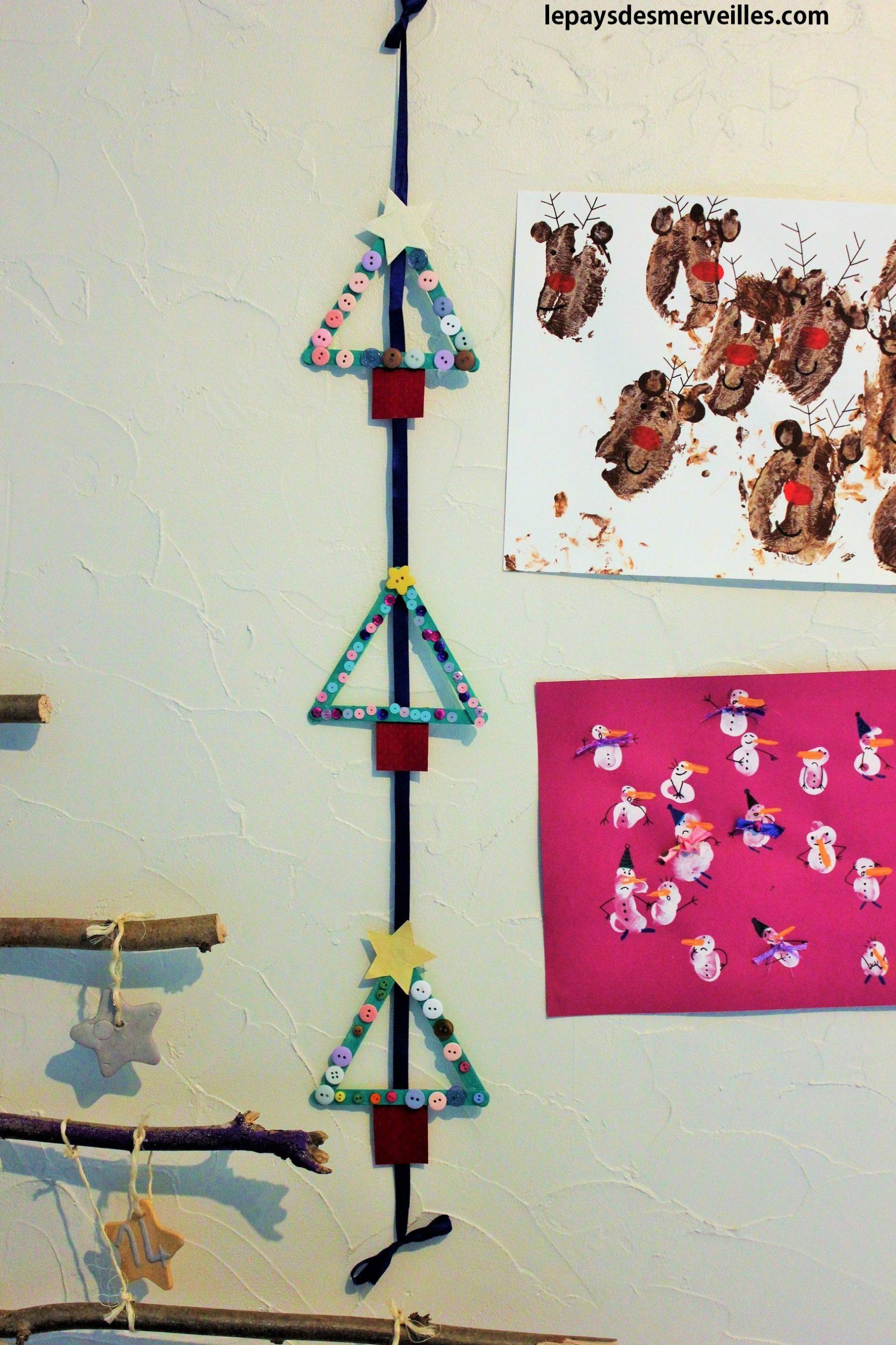 Sapins Avec Des Bâtons De Glace - Le Pays Des Merveilles intérieur Activités Manuelles Enfants Noel