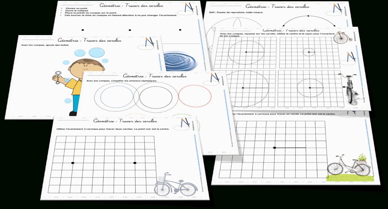 Séquence Autour Du Cercle Et Du Disque • Recreatisse tout Dessin Géométrique Ce2