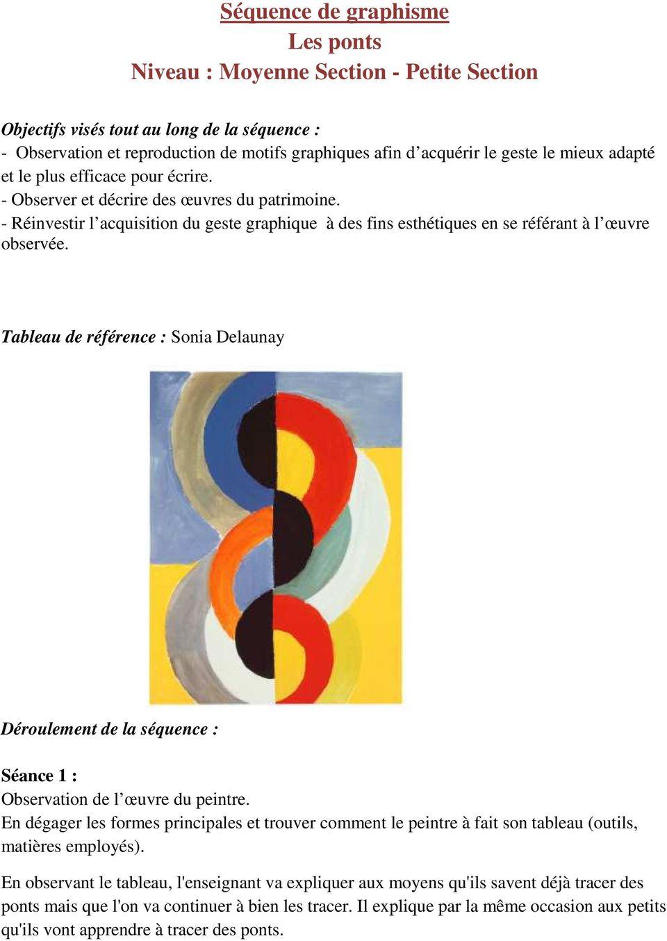 Séquence De Graphisme Les Ronds Niveau : Moyenne Section intérieur Graphisme Moyenne Section Les Ponts