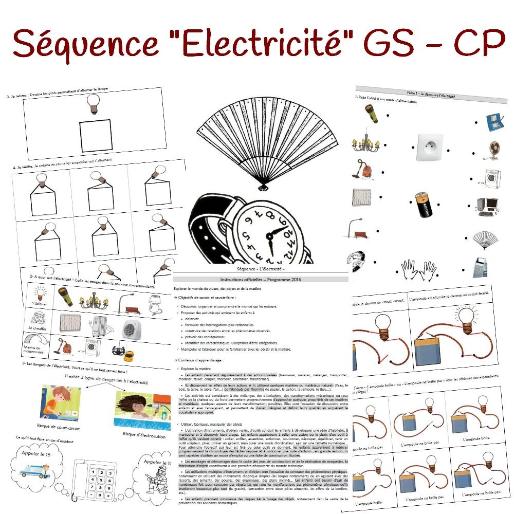 """Séquence """"Électricité"""" Gs-Cp concernant Activité Manuelle Pour Cp"""