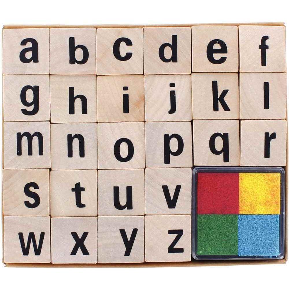 Set De 26 Tampons Alphabet Minuscule + Encreur serapportantà L Alphabet Minuscule
