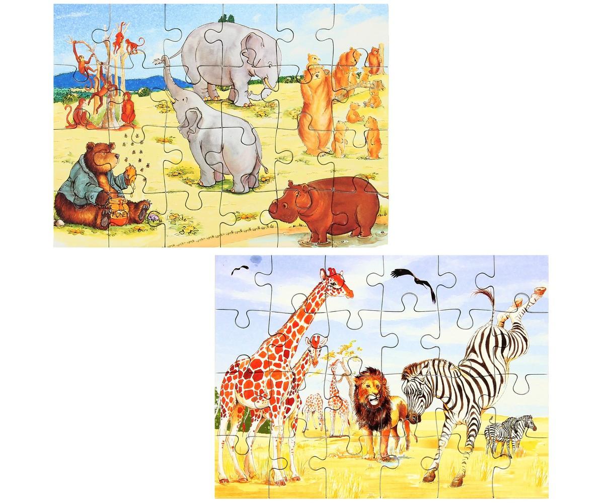 Set Jouet Lot 2 Mini Puzzles Ludique Jeu Enfant Animaux De intérieur Jeux Enfant Animaux