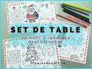 Sets De Table Pour Les Fêtes De Noël À Imprimer Gratuitement pour Bricolage À Imprimer Gratuit