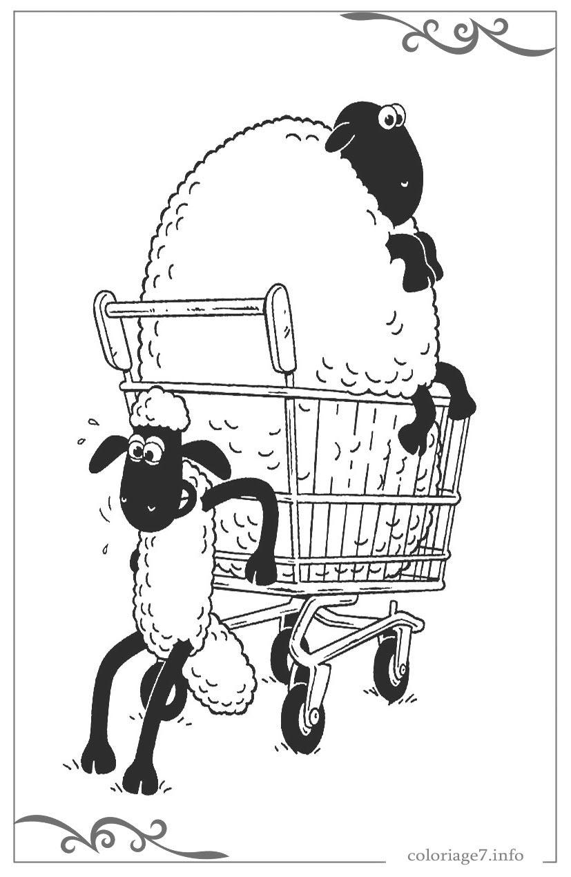 Shaun Le Mouton Coloriage En Ligne Gratuit Pour Garcon intérieur Mouton À Colorier
