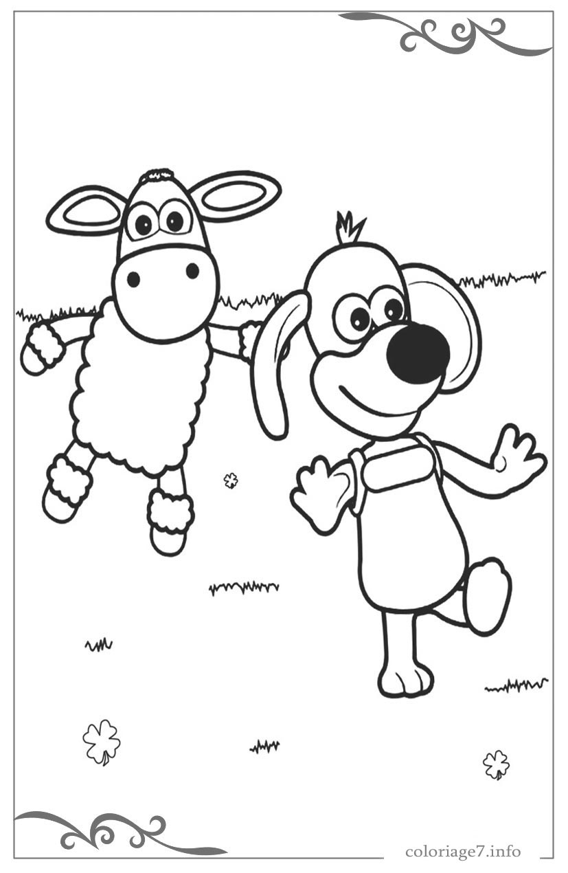 Shaun Le Mouton De Coloriages Pour Filles Gratuits avec Mouton À Colorier