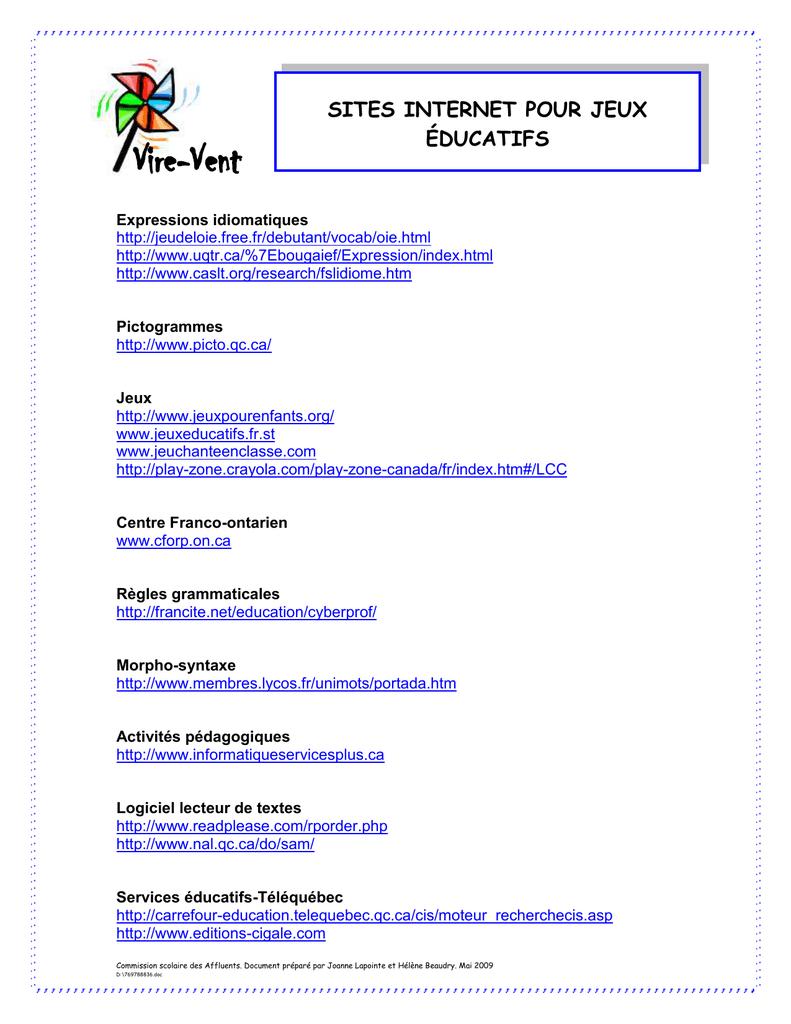 Sites Internet Pour Des Jeux Éducatifs avec Jeux Lulu Le Lutin