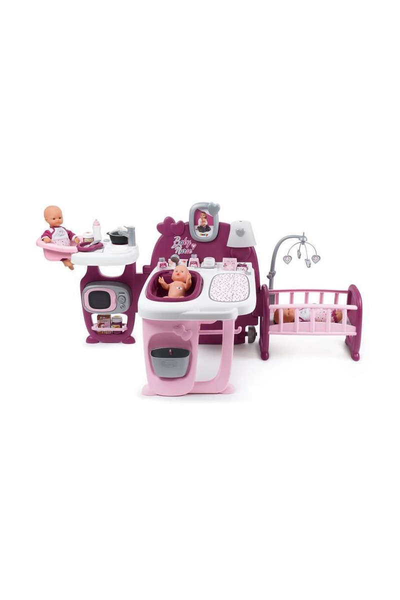 Smoby Baby Nurse Grande Maison Des Bébés - 3 Espaces De Jeux dedans Jeux De Grande Maison