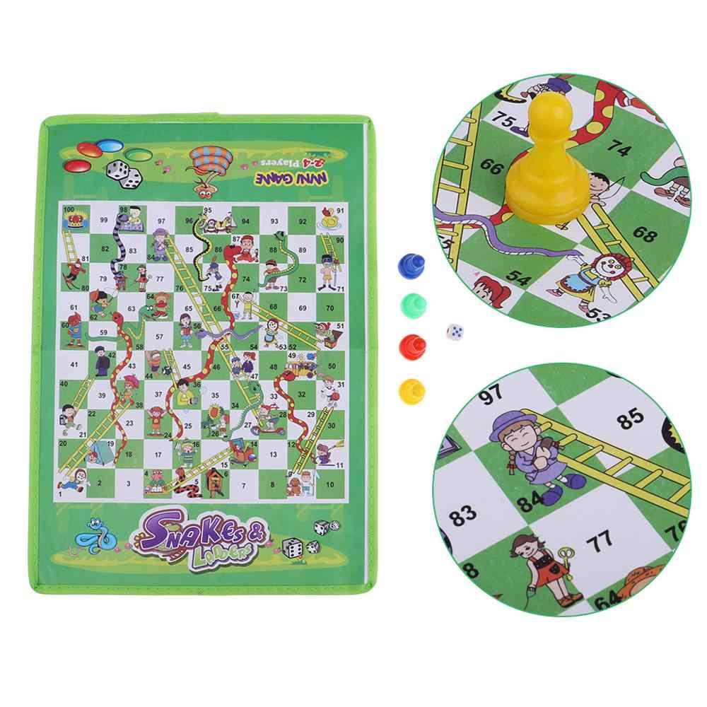 Snake And Ladder Kids Children Portable Flying Chess Ludo dedans France 4 Ludo