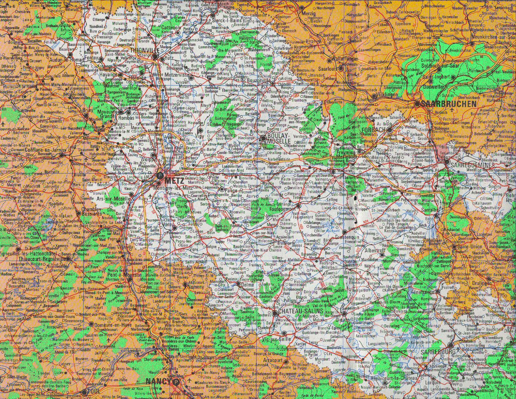 Snuipp 57 - Syndicat Moselle serapportantà Département 57 Carte