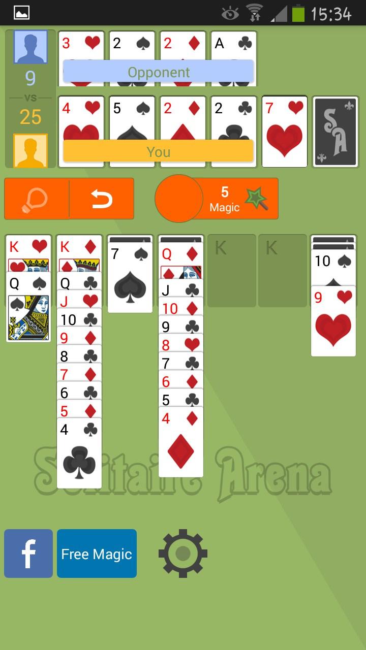 Solitaire Arena – Jeux Pour Android 2018 - Téléchargement destiné Jeux De Cartes À Télécharger Gratuitement