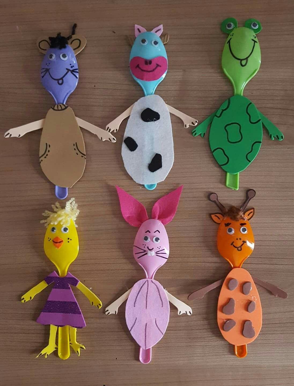 Spoon Animals | Bricolage Enfants | Activité Manuelle encequiconcerne Activité Manuelle Sur La Ferme