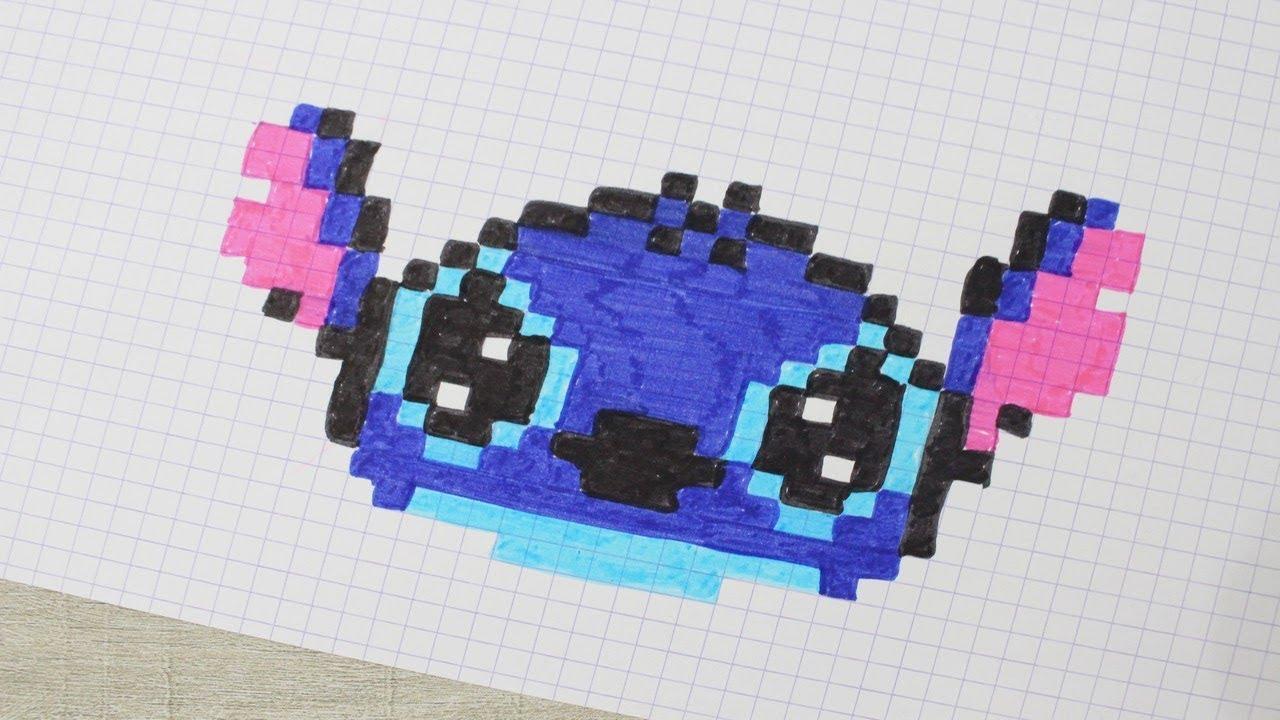 Stitch En Pixel Art ! tout Pixel Art Facile Fille