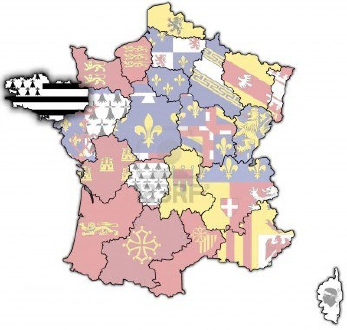 Stock Photo   France Map, Pays De La Loire, Geography Map pour Image De La Carte De France