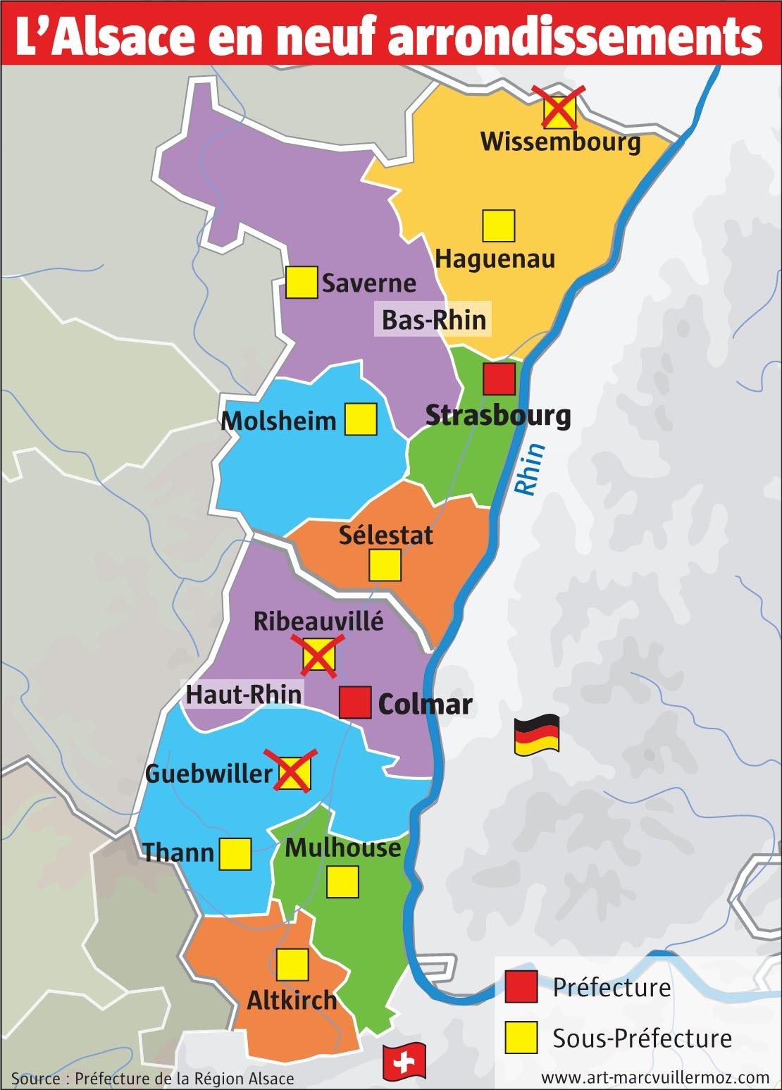 Strasbourg | La Nouvelle Carte Des Arrondissements Se intérieur Carte Des Préfectures